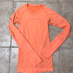 Lululemon orange long sleeve